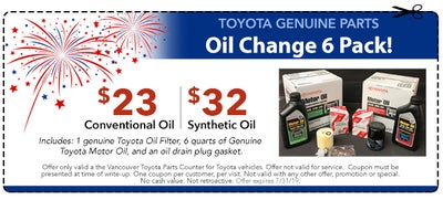 Toyota Synthetic Oil Change Coupon >> Service Parts Accessory Specials Car Service In Vancouver Wa