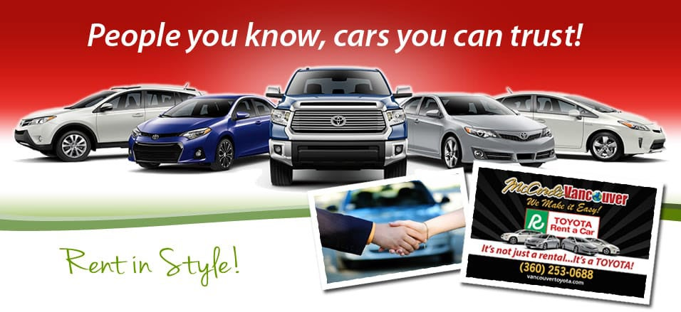 Toyota Rent A Car | Toyota Dealership in Vancouver WA